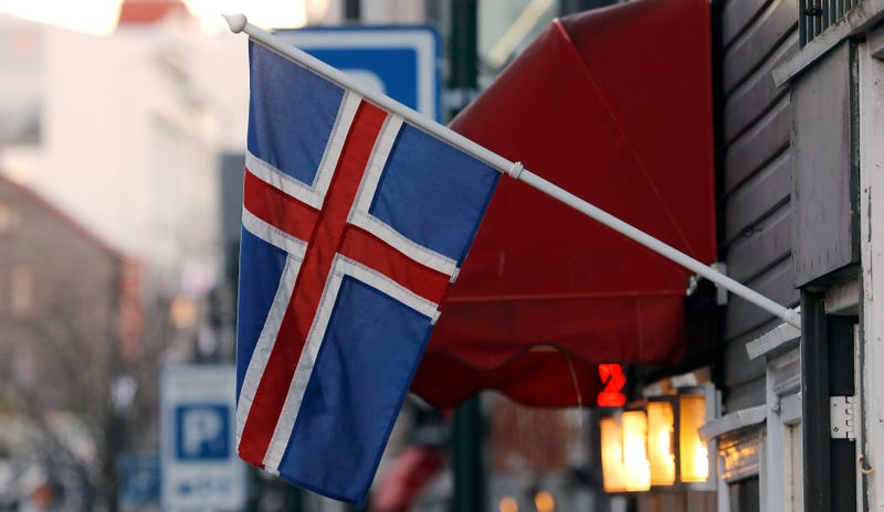 Bandera de Islandia. AP