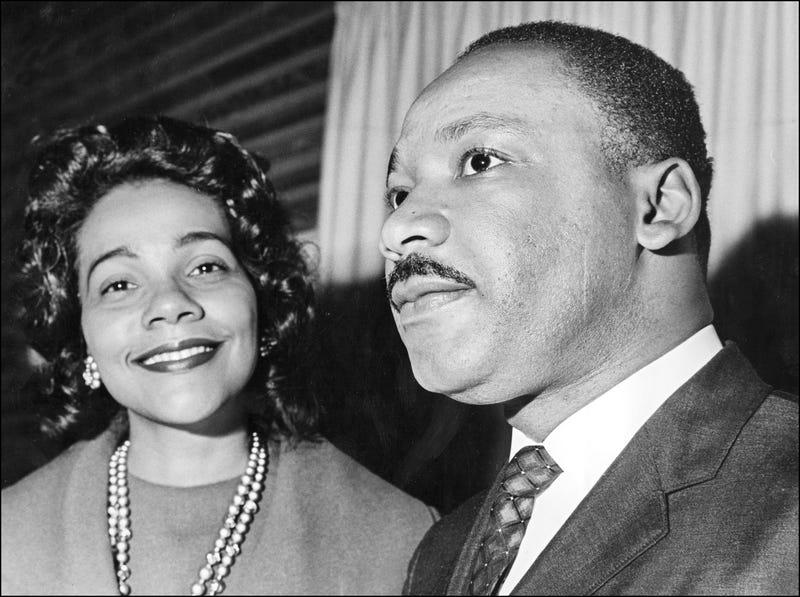 Coretta Scott King and her husband, Martin Luther King Jr., on Dec. 9, 1964, in Oslo, Norway, where the civil rights leader received the Nobel Peace Prize. AFP/Getty Images