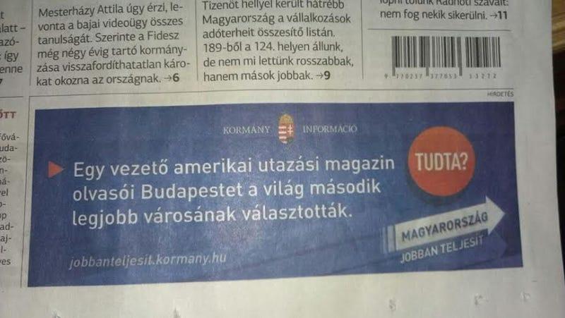 Illustration for article titled Kormányzati propagandakampány lett az online szavazásból