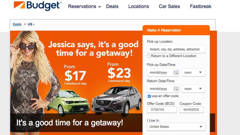Illustration for article titled Somehow, Everyone Wins in These Terrible Jessica Simpson Ads for Budget Rental Cars