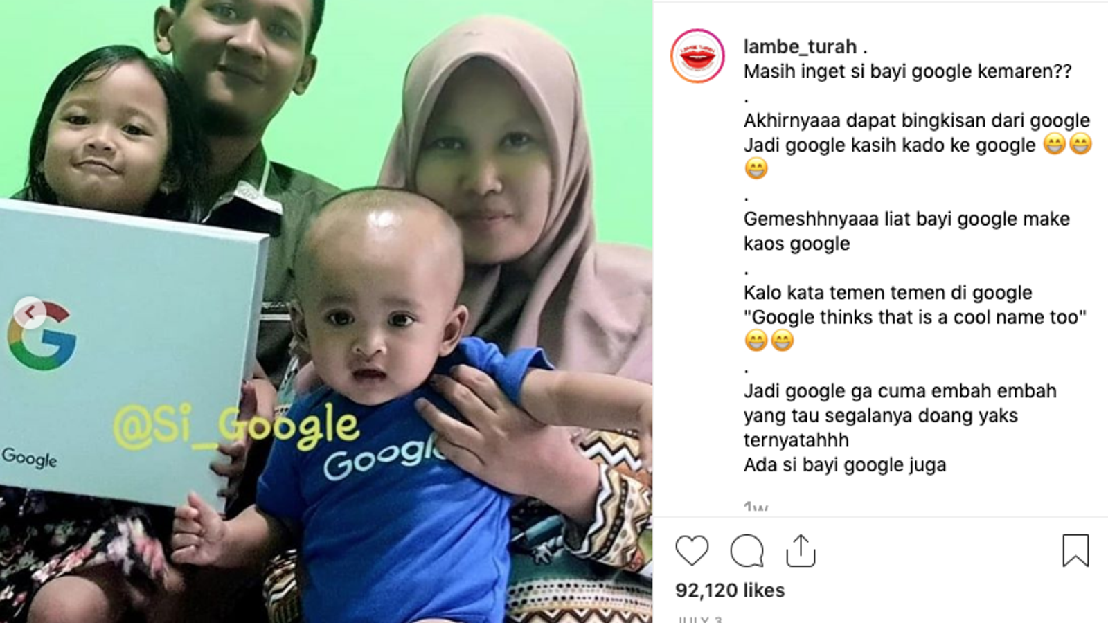 """Parents Named Their Baby """"Google"""" After...Google"""