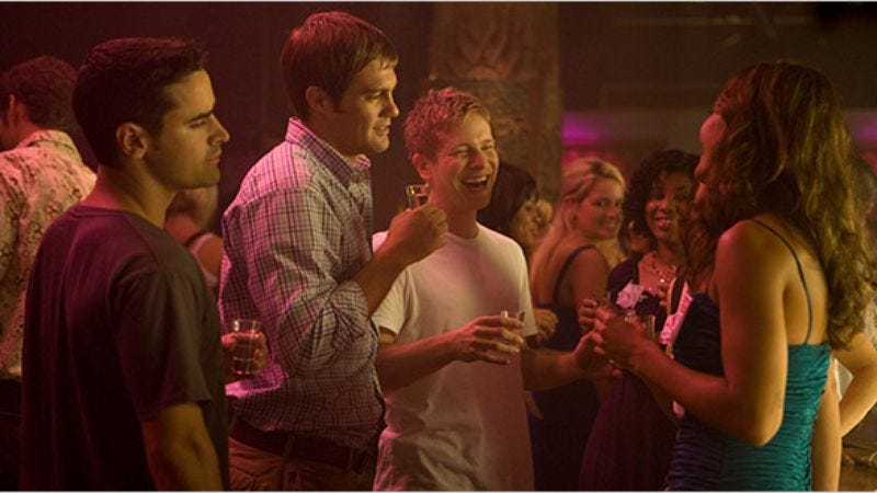 Jesse Bradford, Geoff Stults, and Matt Czuchry in I Hope They Serve Beer In Hell
