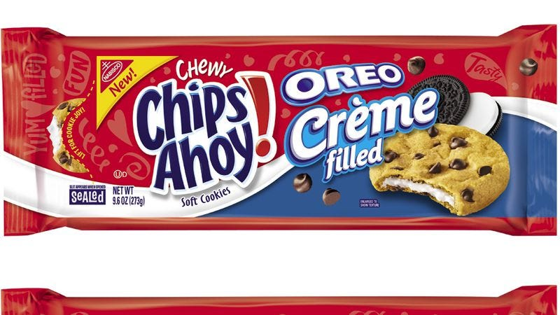 Illustration for article titled The A.V. Club eats Oreo Crème- and Birthday Frosting-filled Chips Ahoy