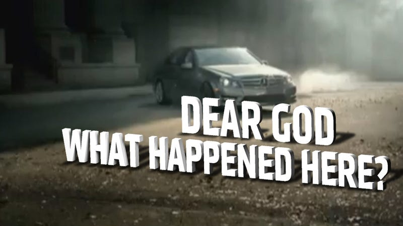 Illustration for article titled Mercedes-Benz C-Class Drift Commercial Portends A Hellish Future