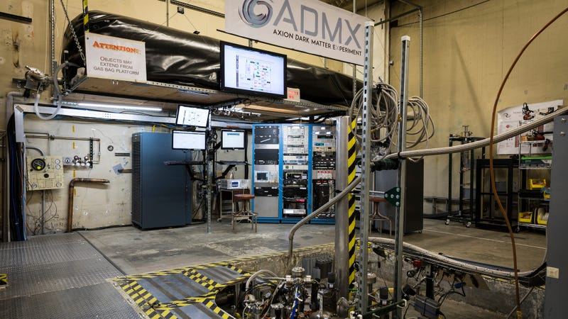 The ADMX experiment in its experimental hall.