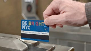 Illustration for article titled Gap Turns the NYC MetroCard Blue in Giant New Ad Campaign