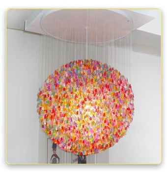 """Illustration for article titled The """"Candelier"""" Is The Sweetest Ceiling Fixture Ever Made"""