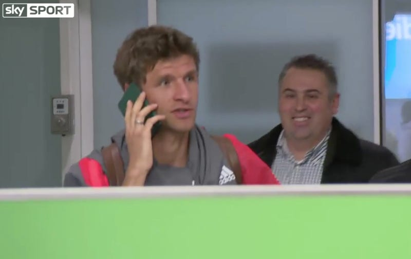 Illustration for article titled Sorry, Thomas Müller Can't Talk Right Now