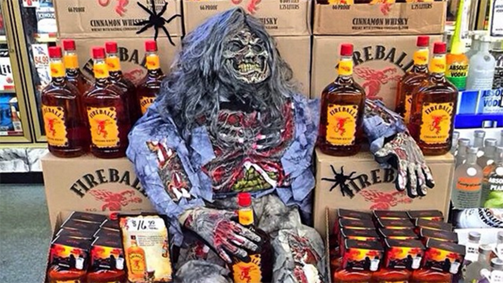 Fireball Whisky contains an antifreeze ingredient