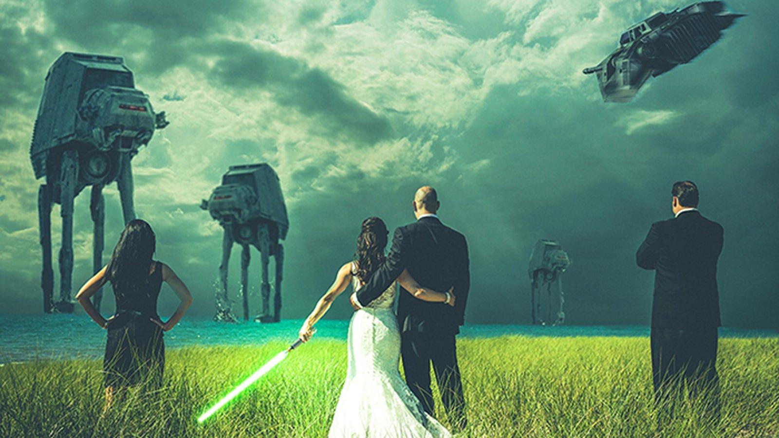 Los retoques fotográficos más locos en fotos de bodas