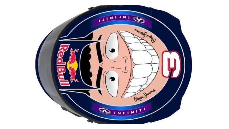 Illustration for article titled Daniel Riccardo's Helmet Design Is Definitely Luffy From One Piece