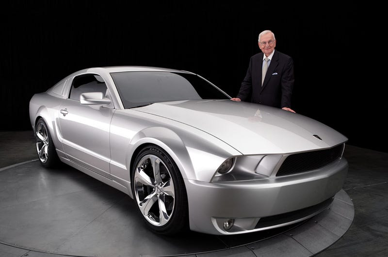 Illustration for article titled Lee Iacocca Finds Better Car, Unveils Custom 45th Anniversary Mustang