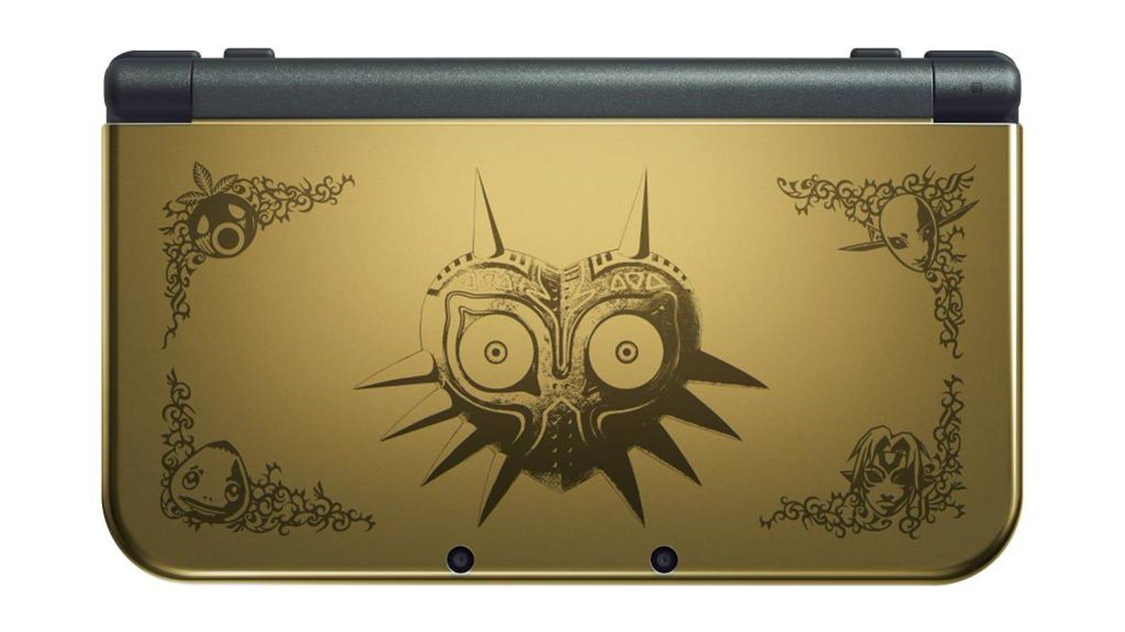 La New Nintendo 3DS XL edición Majora's Mask es una preciosidad