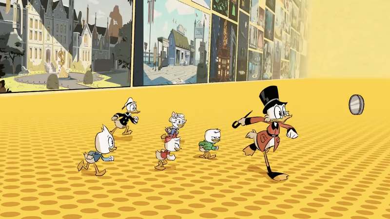 Still from the new DuckTales opening credits (Image: Disney XD via YouTube)
