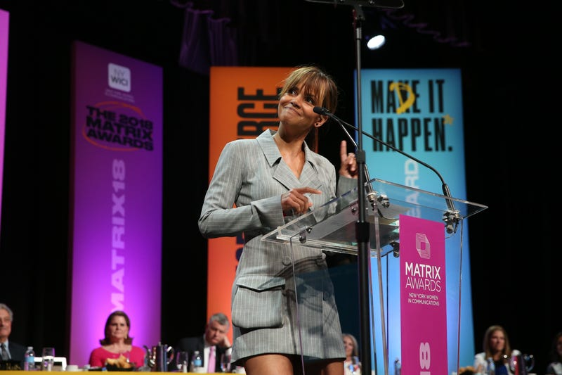 Halle Berry at the Matrix Awards at Sheraton Times Square on April 23, 2018, in New York City