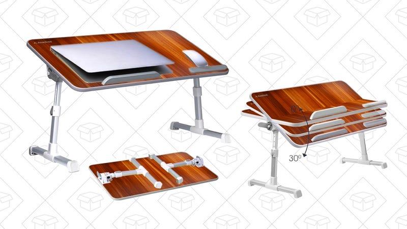 Avantree Adjustable Laptop Bed Table   $36   Amazon