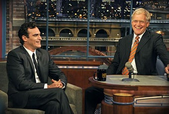Illustration for article titled Joaquin Phoenix Bothers To Apologize To David Letterman