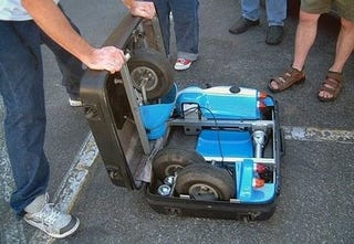 Illustration for article titled It's a Go-Kart That Folds Into a Suitcase. Any Questions?