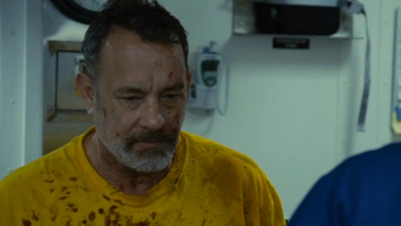 Illustration for article titled Tom Hanks shows how someone might really react to a life-or-death ordeal