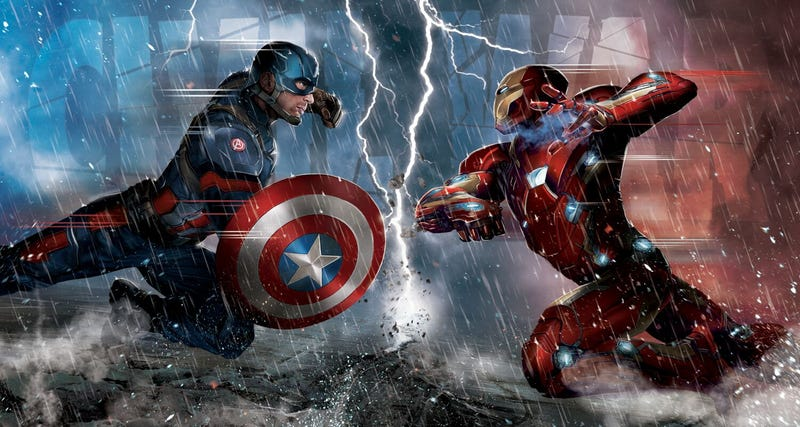 Illustration for article titled Captain America: Civil War recreará una de las escenas más míticas de los cómics de Marvel
