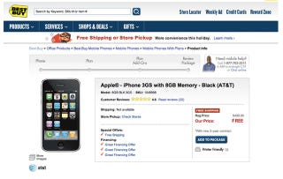 Illustration for article titled Best Buy Will Give You a Free iPhone 3GS on December 10th...Apparently