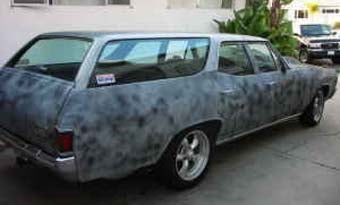 Illustration for article titled Nice Price Or Crack Pipe: Evil, Primered, Weiand-Blown '72 Chevelle Wagon For $7,000?
