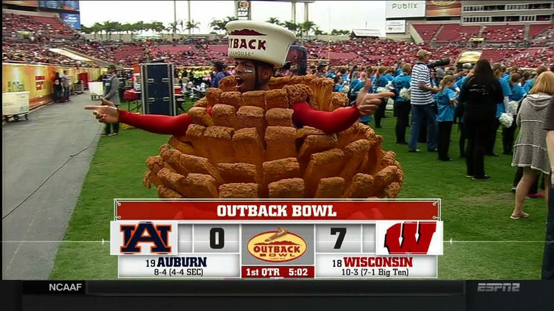Illustration for article titled Outback Bowl Features Horrifying Mascots