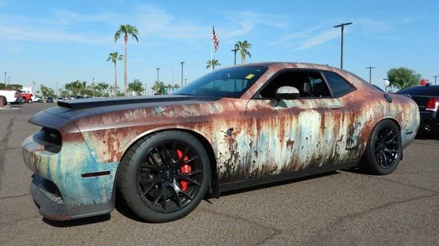 This Rust-Wrapped Dodge Challenger SRT Hellcat Is Making Me