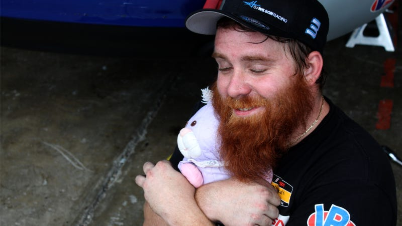 Illustration for article titled Celebrate World Beard Day With A Hug And An MX-5 Race Car
