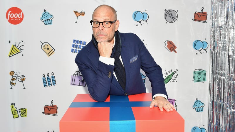 Alton Brown attends a Food Network party in 2018.