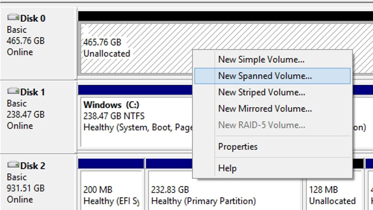 How to Combine Multiple Hard Drives Into One Volume for