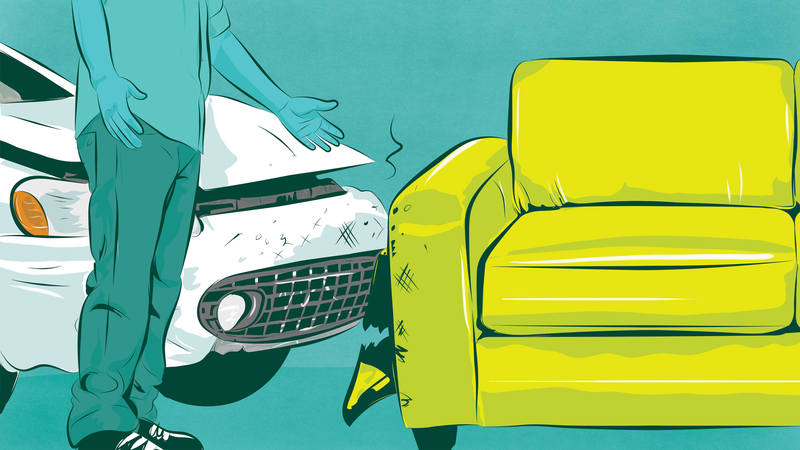 Illustration for article titled Who's Responsible When A Couch In The Road Causes An Accident?