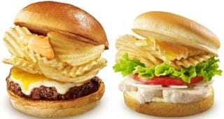 Illustration for article titled Japan Knows It: Chips Make Burgers Better