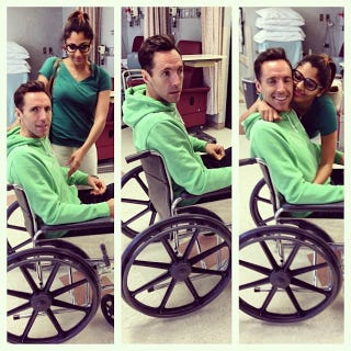 Illustration for article titled Here's Steve Nash In A Wheelchair, So Good Luck With That, Lakers Fans