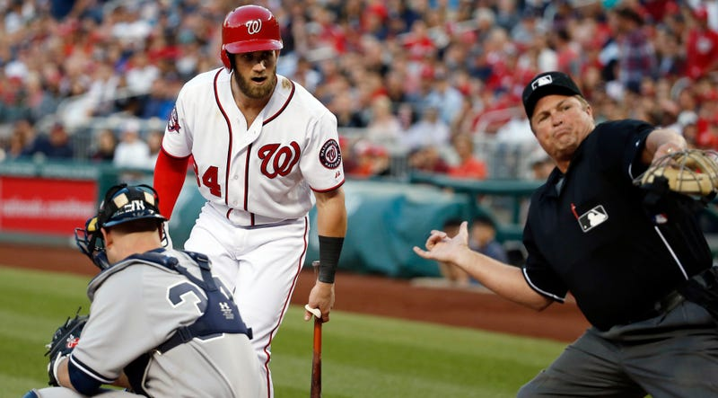 Illustration for article titled Bryce Harper Ejected, But Nobody Knows Why