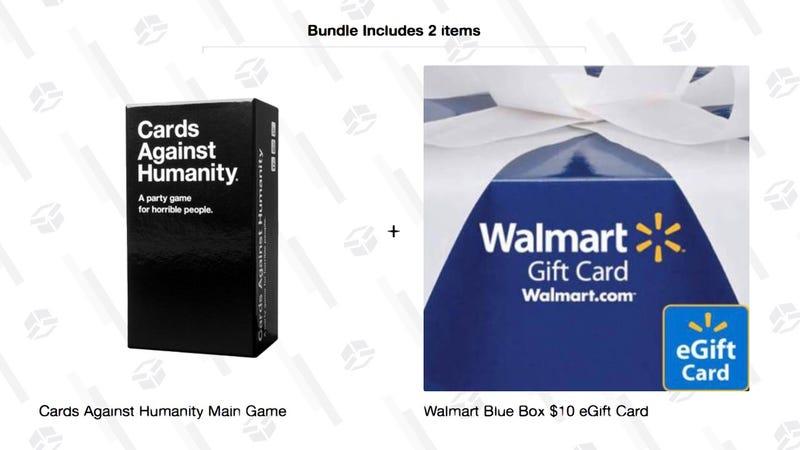 Cards Against Humanity + $10 Walmart Gift Card | $25 | Walmart