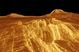 Illustration for article titled Exploring the Sulfur Dioxide Volcanoes of Venus