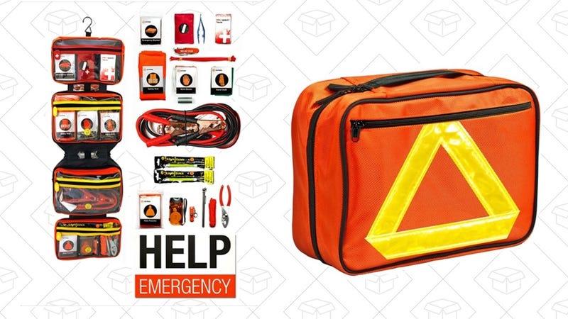Roadside Emergency Kit   $24   Woot   $5 for shipping