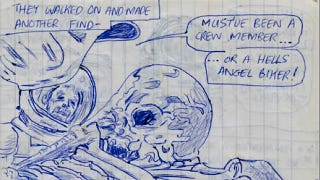 Illustration for article titled Alien, as written by an 11-year-old who never saw the movie before