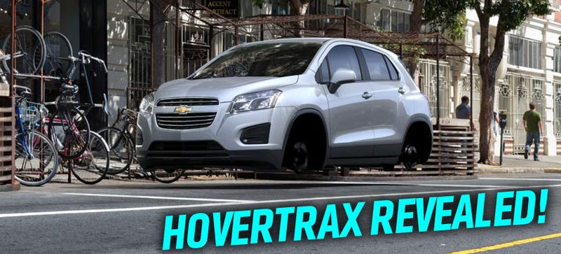 Illustration for article titled Chevy's Secret HoverTrax Floating Car Leaked Due To Website Error