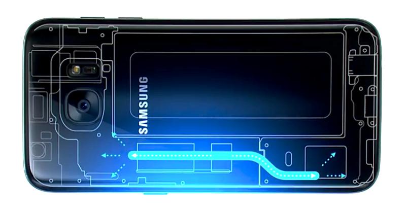 Illustration for article titled El Galaxy S7 se suma a la corta lista de teléfonos con refrigeración líquida
