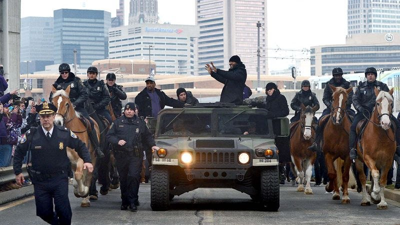 Illustration for article titled Final Police Report: Only 20,000 Killed During Ravens' Super Bowl Parade