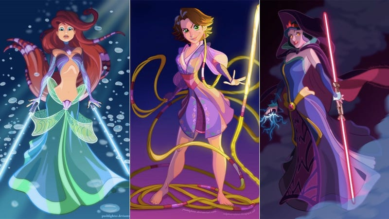Illustration for article titled Disney Princesses make for some pretty intimidating Sith Lords