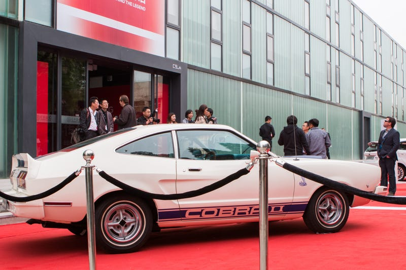 Illustration for article titled They rolled this pristine Mustang Cobra II out on red carpet...