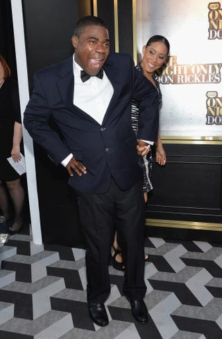 "Tracy Morgan with fiancee Megan Wollover attends Spike TV's ""Don Rickles: One Night Only"" May 6, 2014, in New York City. Mike Coppola/Getty Images for Spike TV"