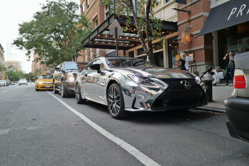 Illustration for article titled Chrome RC-F On The Street