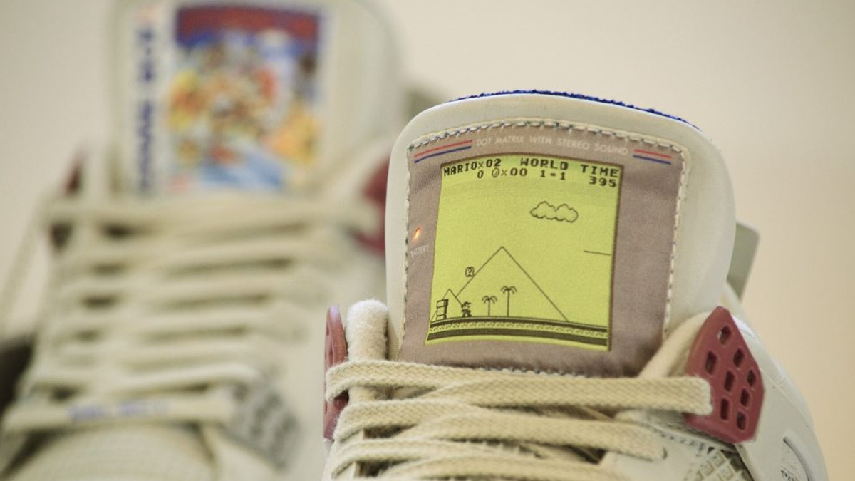 sports shoes 17cdc e6801 These  1,350 Game Boy-Themed Jordans Almost Look Worth It