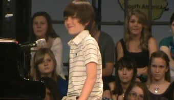 """Illustration for article titled Greyson Chance, """"Paparazzi Boy,"""" Signs Record Deal With Interscope"""