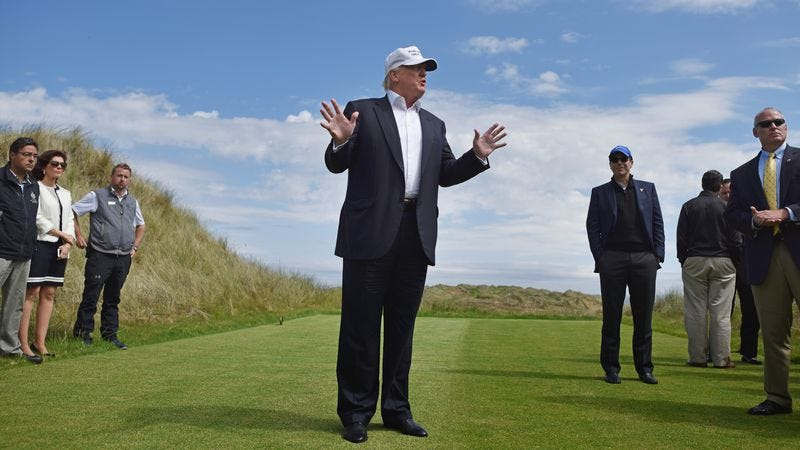 Donald Trump in Scotland (Photo: Getty Images, Jeff J. Mitchell)