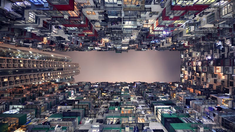 Illustration for article titled Espectaculares imágenes de edificios en perspectiva vertical